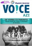"The Conference ""Talking with Parents – the situation of the rights of children with disabilities in Romania""."